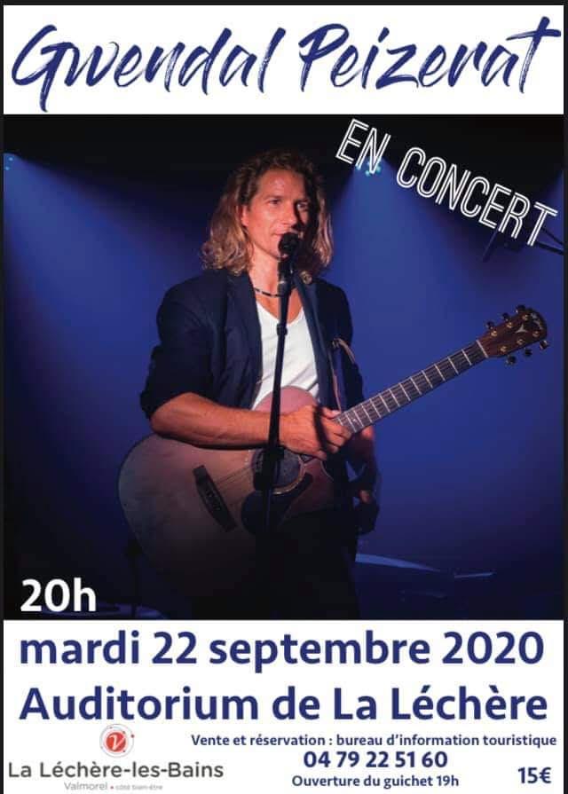 Nouveau concert: le 22 septembre 2020!